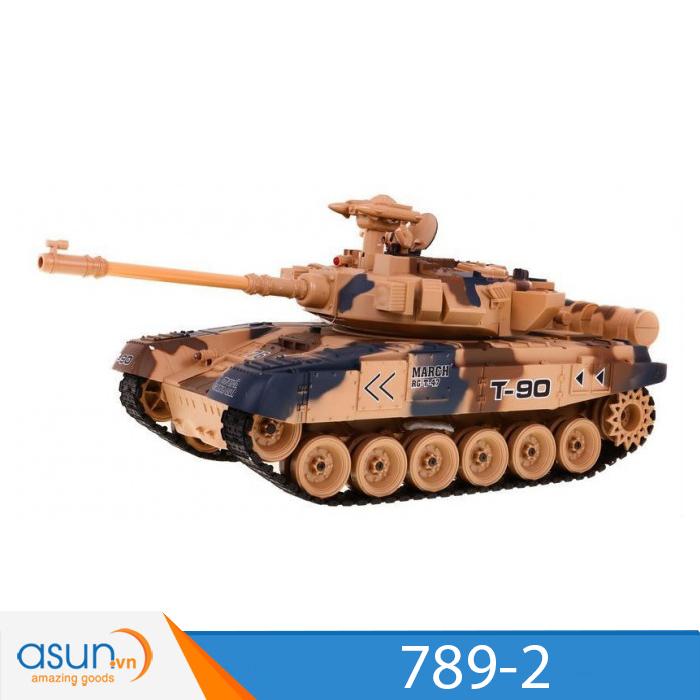 Xe Tank Điều Khiển Từ Xa Bắn Đạn và Có Khói 2.4Ghz M1A2 Mã 789-2