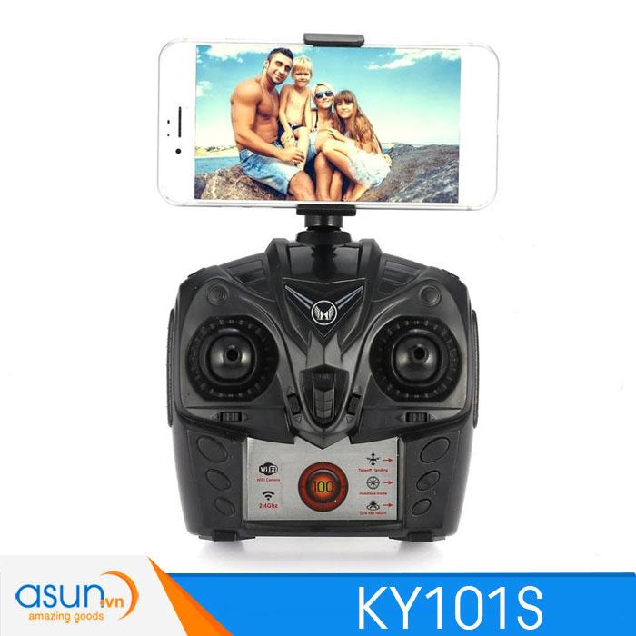 Máy Bay Điều Khiển Từ Xa KY101S Wifi Camera 1080P Tự Giữ Độ Cao Trắng