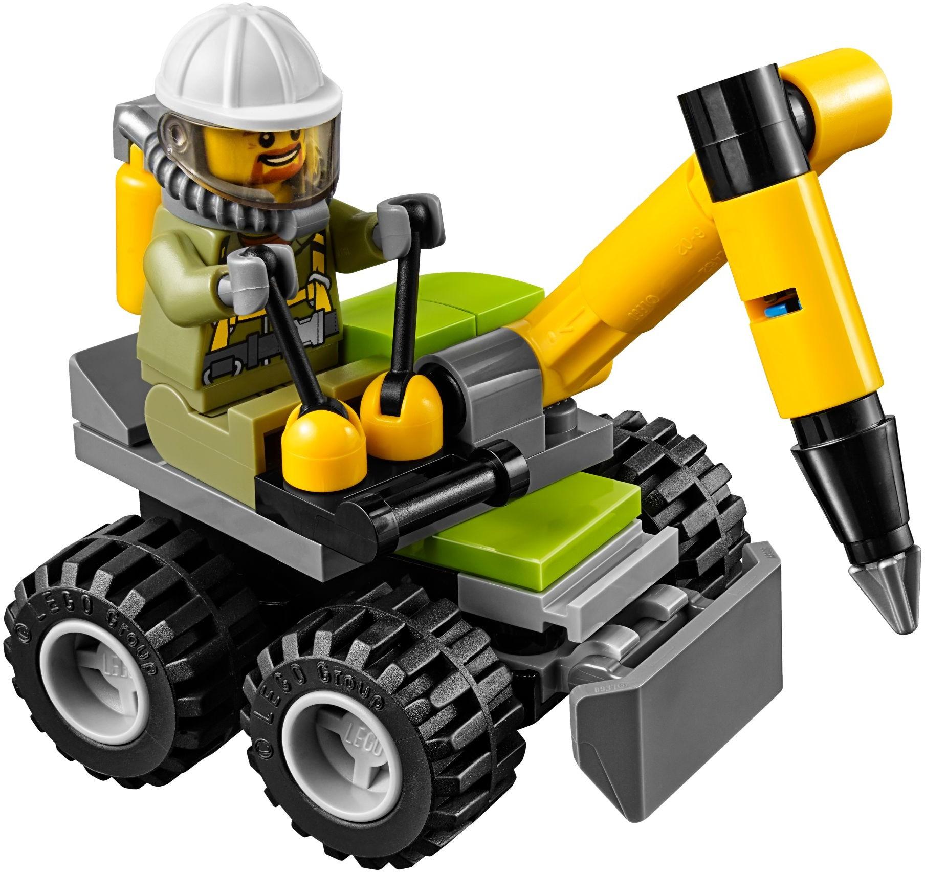 Đồ Chơi Xếp Hình - Máy Khoan Núi Lửa Thương Hiệu LEGO