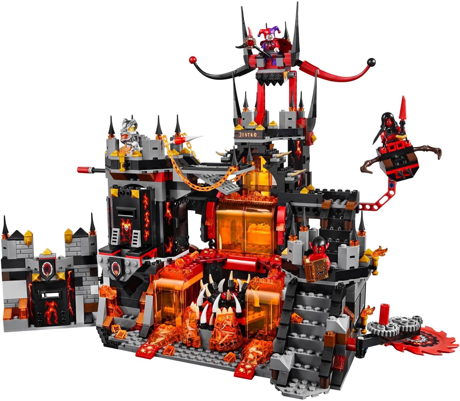 Đồ Chơi Xếp Hình -Sào Huyệt Núi Lửa Của Jestro Thương Hiệu LEGO