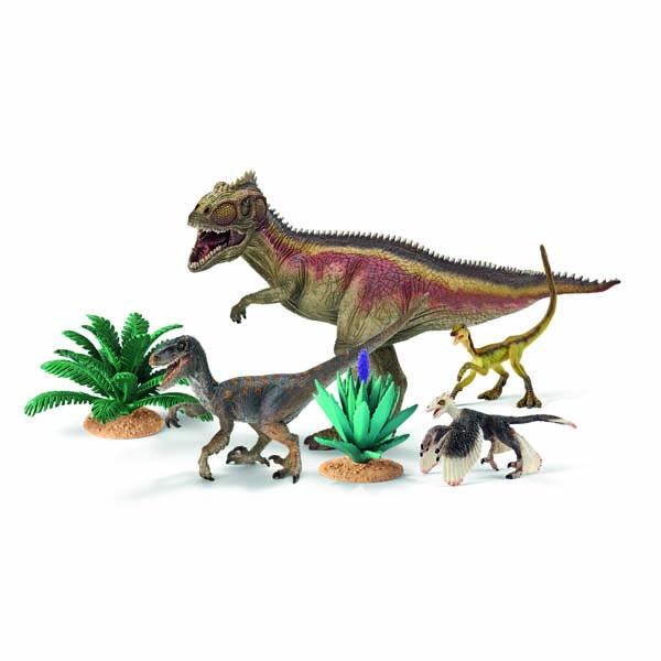 Bộ Khủng Long Ăn Thịt Giganotosaurus Và Velociraptor
