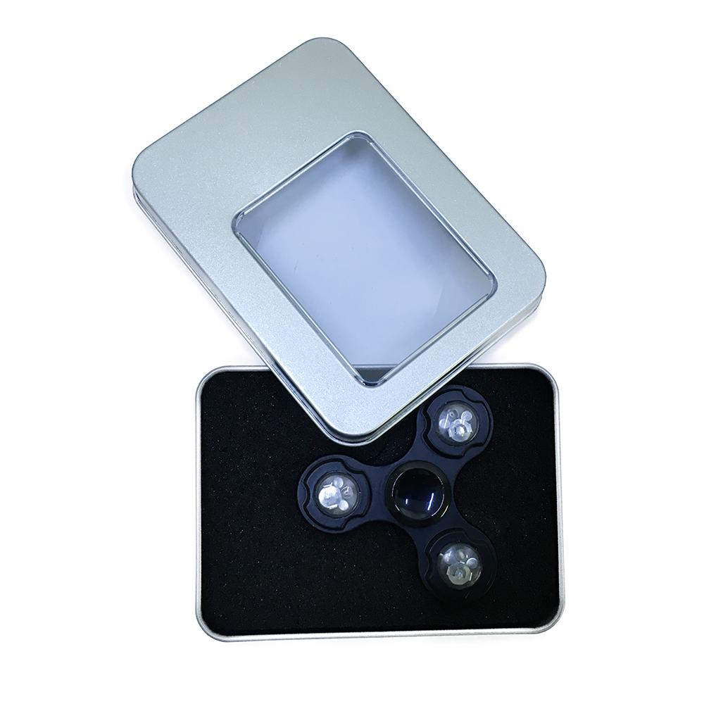Con Quay Giảm Stress Đèn Led Black 3 Cánh Hand Spinner - Fidget Spinner