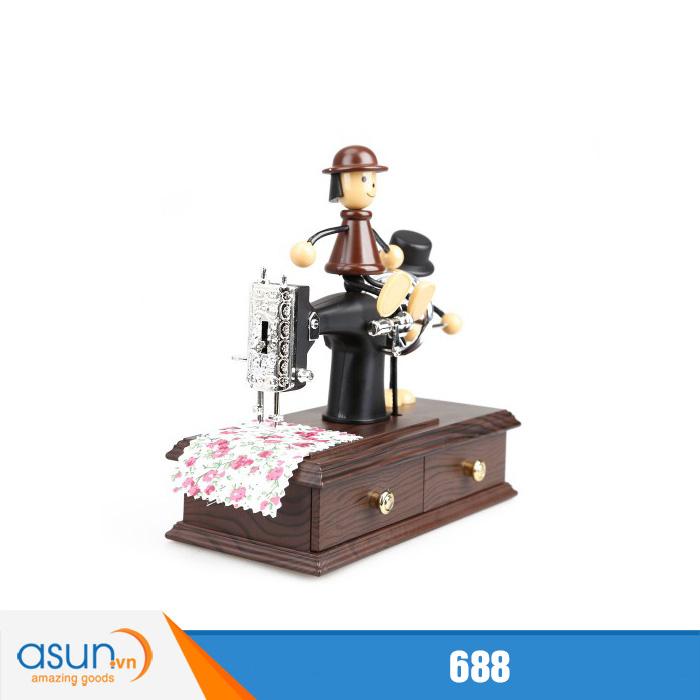 Máy May Phát Nhạc Music Box 688 Lên Dây Cót