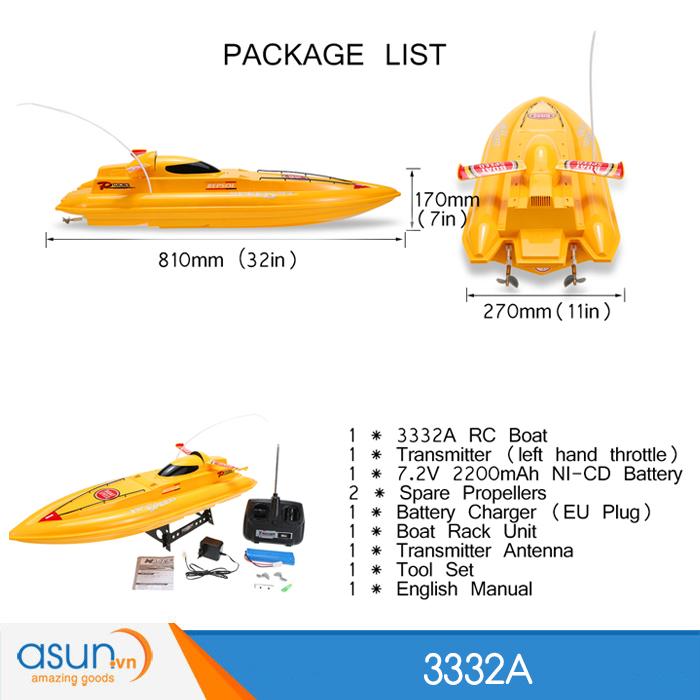 Tàu Đua Cano Điều Khiển Từ Xa 3332B Racing Boat