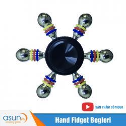 Con Quay Giảm Stress 6 Cánh Bánh Lái Hand Spinner Đen - Fidget Spinner