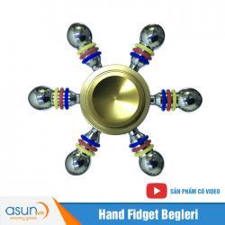 Con Quay Giảm Stress 6 Cánh Bánh Lái Hand Spinner Vàng - Fidget Spinner