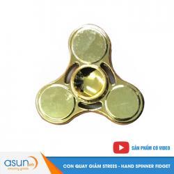 Con Quay Giảm Stress 3 Cánh Kim Loại Hand Spinner Vàng - Fidget Spinner