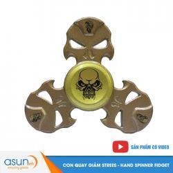 Con Quay Giảm Stress Đầu Lâu 2 Hand Spinner - Fidget Spinner Hot 2017