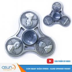 Con Quay Giảm Stress Đồng Cent Mỹ Hand Spinner Bạc - Fidget Spinner
