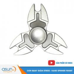 Con Quay Giảm Stress 3 Cánh Kim Loại Bạc Hand Spinner - Fidget Spinner