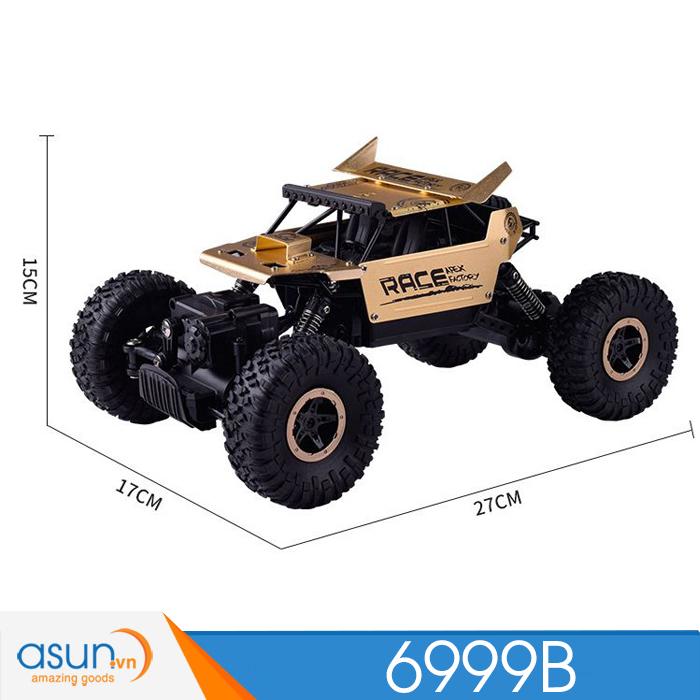 Xe  Điều Khiển Địa Hình Rock Crawler 6999B 4WD Rally Car Vỏ Nhôm Vàng đồng