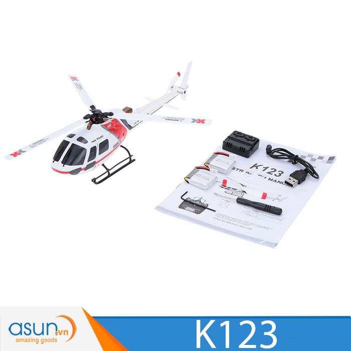 Máy bay trực thăng điều khiển 6 kênh AS350-01 Brushless XK K123