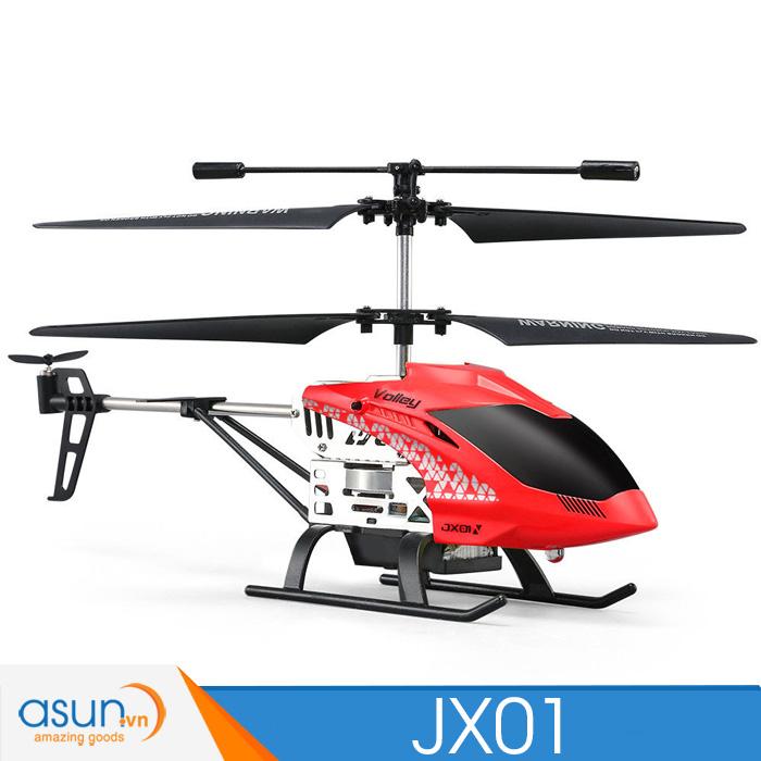 Máy bay trực thăng điều khiển JJRC JX01 Tự Giữ Độ Cao 2.4Ghz màu đỏ